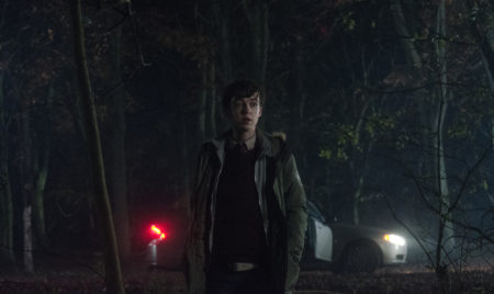 Alex Lawther in 'Ghost Stories' Still, on location at Harewood