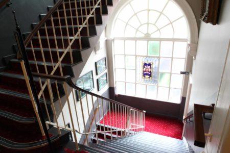 Cutler's Hall Stairway Window