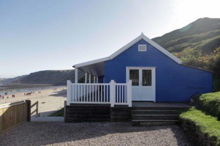 Blue Beach House Side Entrance