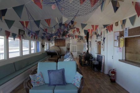 Inside of Blue Beach House