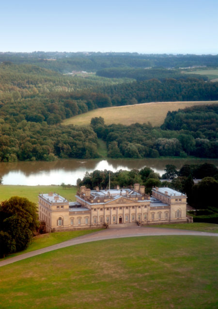 Harewood House aerial view