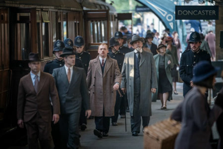 The ABC Murders filming at Pickering Station North Yorkshire Moors Railway © BBC