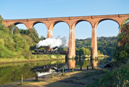 NYMR - Under the viaduct to Whitby - John Hunt